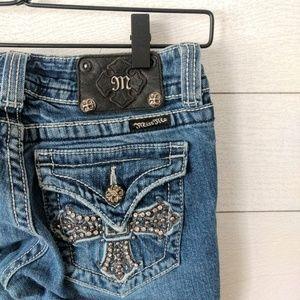Miss Me Jeans JP5046 3 Boot Cut Blue Jeans Size 26